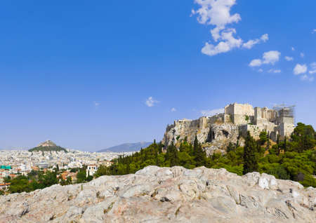Panorama of Acropolis and Athens, Greece - travel background photo