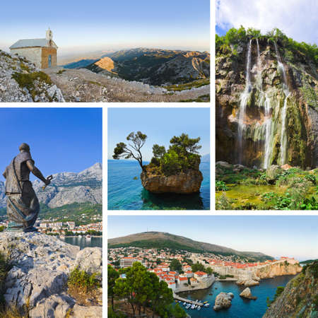 Collage of Croatia travel images - nature and tourism background  my photos