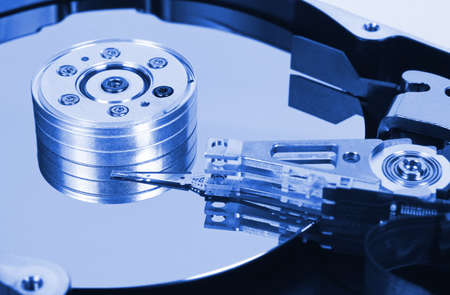 Computer hard disk - technology background photo