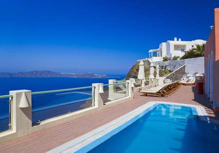 firostefani: Santorini view - Greece  Firostefani  - vacation background