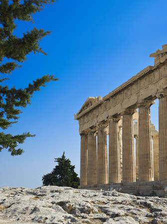 Parthenon temple in Acropolis at Athens, Greece - travel background