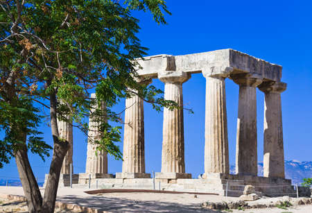 Ruins of temple in Corinth, Greece - archaeology background Stock Photo - 12323071