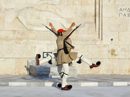 Changing guards near parliament at Athens, Greece Stock Photo - 12279813