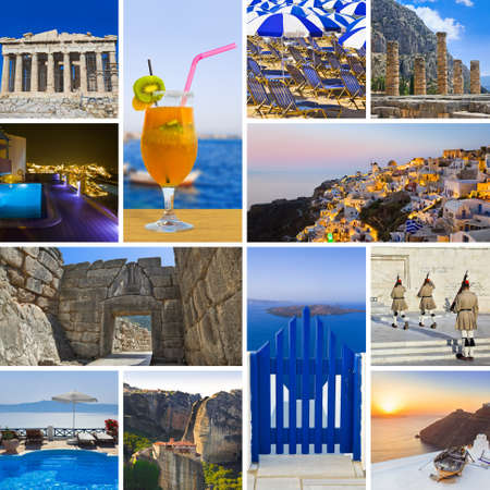 Collage of Greece travel images - nature and tourism background (my photos) Stock Photo - 12279827