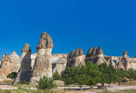 kappadokien: Felsformationen in Kappadokien T�rkei - Natur Hintergrund