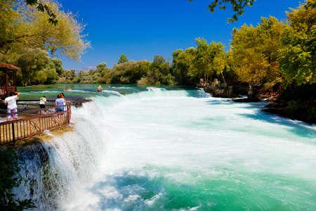 turkey beach: Waterfall Manavgat at Turkey - nature travel background