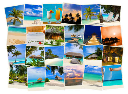 Summer beach maldives images - nature and travel background