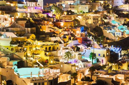 firostefani: Santorini night  Firostefani  - Greece vacation background
