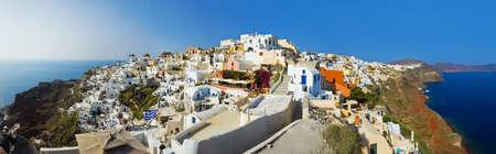 Santorini view  Oia , Greece - vacation background photo