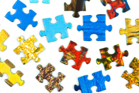 Pieces of puzzle isolated on white background Stock Photo - 12906989