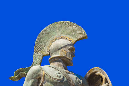 Statue of king Leonidas in Sparta, Greece - history background photo