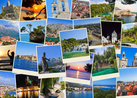 Stack of Croatia travel photos  - nature and travel background  my images