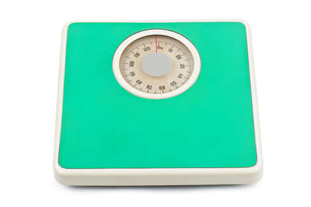 Weight scale - isolated on white background photo