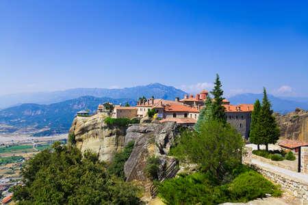 Meteora monastery in Greece - travel background photo