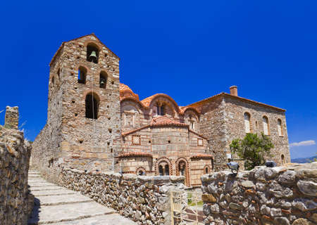 peloponnese: Ruins of old town in Mystras, Greece - archaeology background