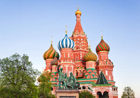 vasily: Saint Basil Cathedral on Red square, Moscow  Russia  at sunset