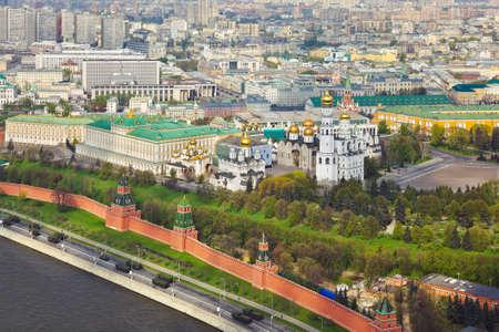 palacio ruso: Kremlin de Moscú - Rusia - vista aérea