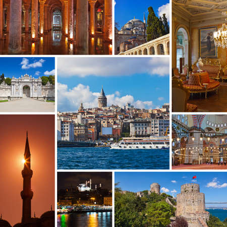 topkapi: Collage of Istanbul Turkey images - architecture and tourism background  my photos
