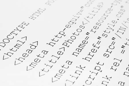Printed internet html code - computer technology background Stock Photo - 12907048