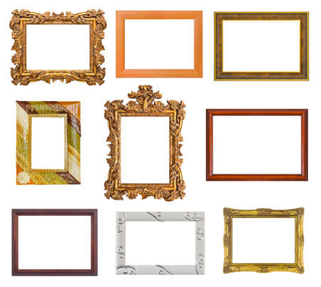 Set of frames isolated on white background photo