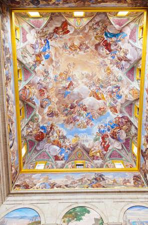 Painting in Castle Escorial at San Lorenzo near Madrid Spain