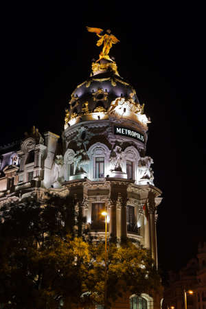 Madrid Spain at night - architecture background Stock Photo - 12986736