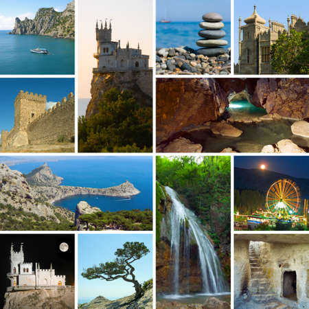 Collage of Crimea Ukraine images - travel and nature background (my photos) photo