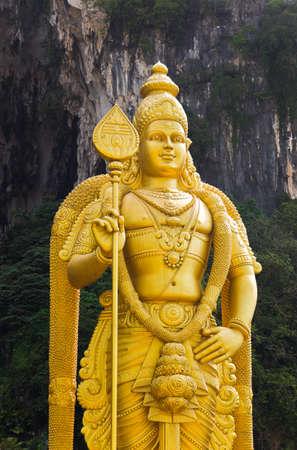 hindu god: Statue of hindu god Muragan at Batu caves, Kuala-Lumpur, Malaysia
