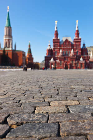 Red square at Kremlin Moscow  Russia  photo