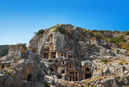 archeology: Ancient town in Myra, Turkey - archeology background Stock Photo