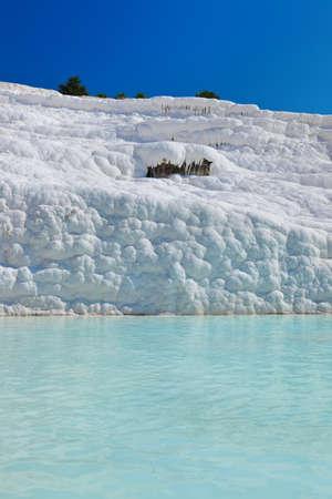 Travertine pools and terraces - Pamukkale Turkey Stock Photo - 13340771