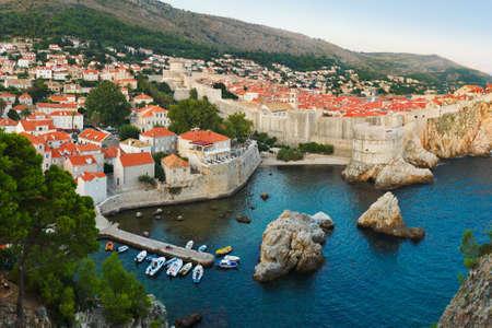 croatia dubrovnik: Sunset at Dubrovnik, Croatia - architecture background Stock Photo