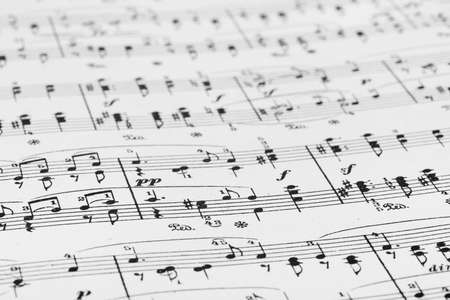 Music sheet - abstract art background Stock Photo