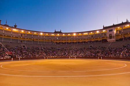 capote: Bullfighting arena - corrida at Madrid Spain