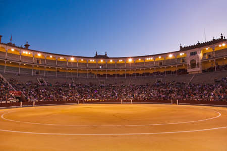 bull fight: Bullfighting arena - corrida at Madrid Spain