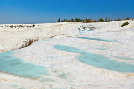 pamuk: Travertine pools and terraces - Pamukkale Turkey