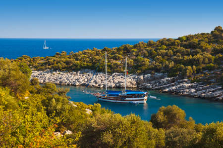 Ship in harbor at Turkey - travel nature background Stock Photo - 13436064