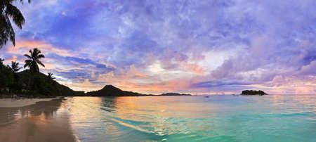tropical beach panoramic: Tropical beach Cote d