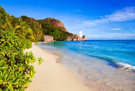 anse source d argent: Tropical beach Source D Stock Photo