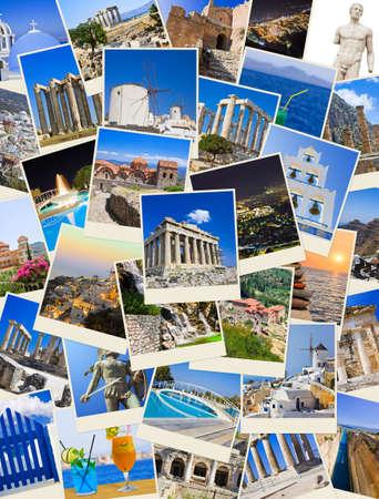 templo griego: Pila de tiros de Grecia - la naturaleza y el fondo de mis fotos de viajes Foto de archivo