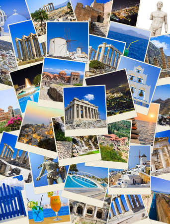 Stack of Greece shots  - nature and travel background  my photos  photo