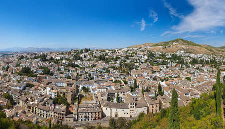 Panorama of Granada Spain - view from Alhambra palace photo