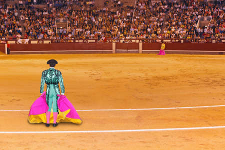Matador in bullfighting arena at Madrid Spain Stock Photo - 13559002