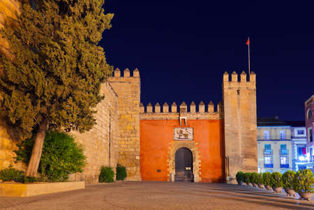 Gates to Real Alcazar Gardens in Seville Spain - architecture background photo