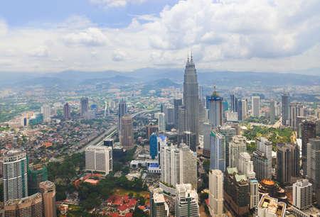 kuala lumpur city: Kuala Lumpur  Malaysia  city view - architecture background