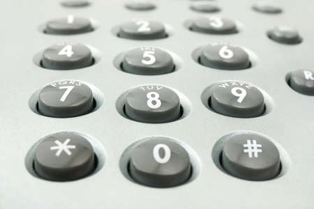Macro of phone keypad - business background Stock Photo - 13570866