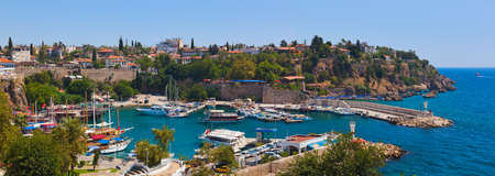 Old town Kaleici in Antalya, Turkey - travel background Editorial