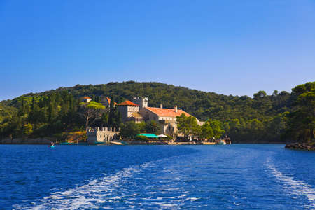 monastery nature: Monastery at island Mljet in Croatia - travel background