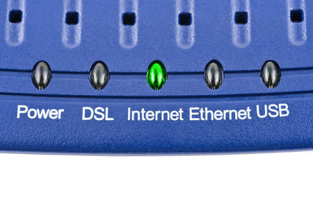 Macro of internet modem - technology background photo