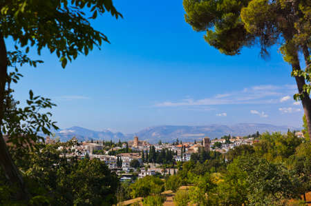 granada: Alhambra palace at Granada Spain - architecture and nature background Stock Photo